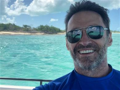 Hugh Jackman Shares Shirtless Ocean Selfie 'Double Dipped In SPF 100'