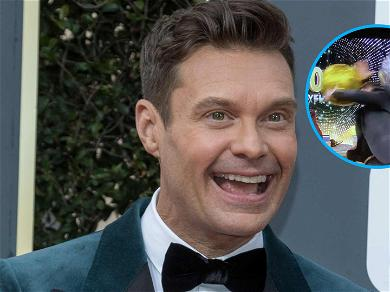 Down He Goes! Ryan Seacrest Falls Out Of His Chair On 'Live'