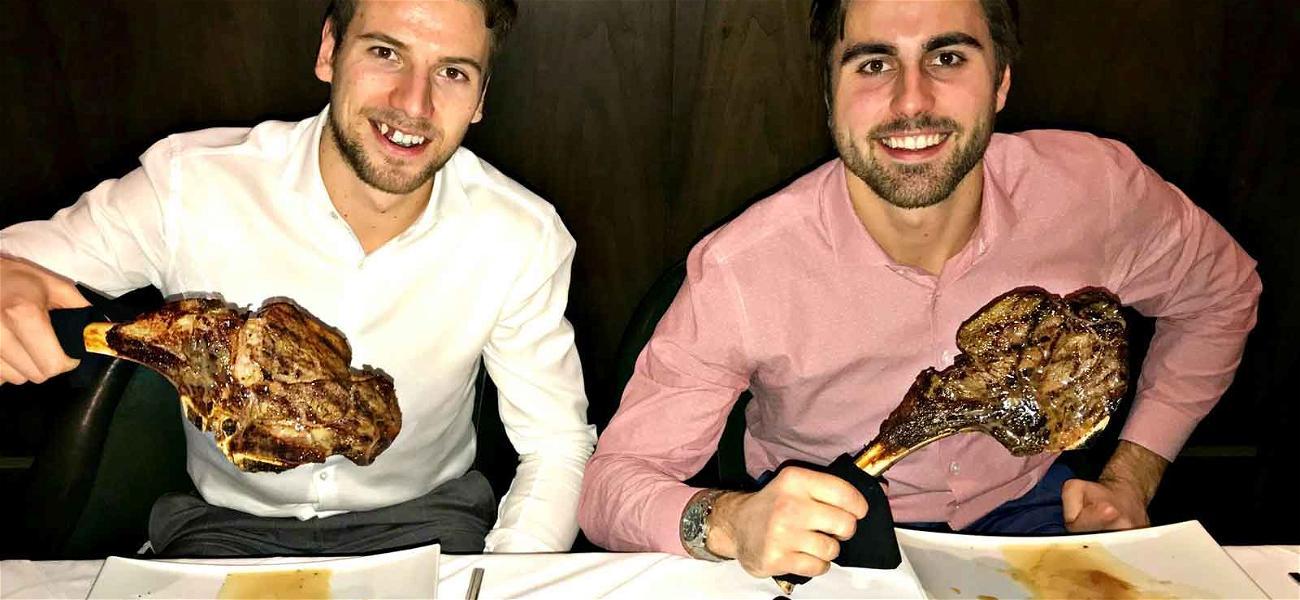 Vegas Golden Knight Stars Score Goals After Face-Off With Big Steaks