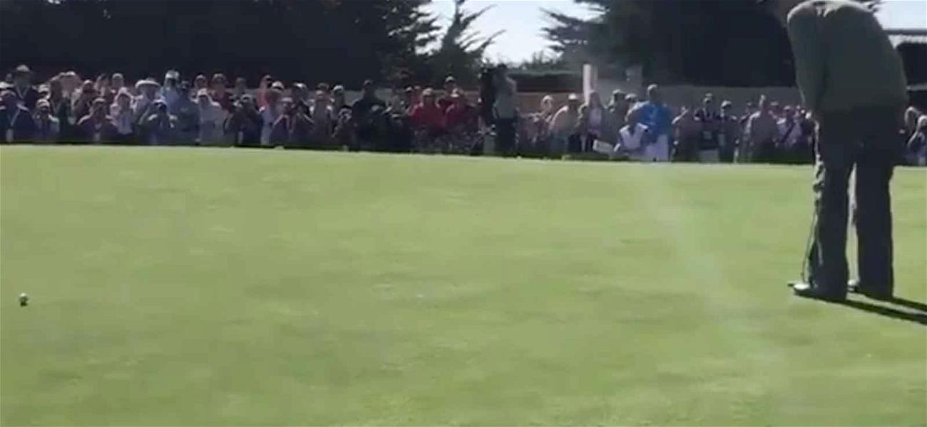 Clint Eastwood Drains Monster Putt at Pebble Beach Celebrity Challenge