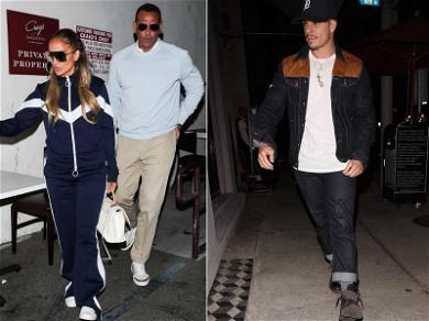 Jennifer Lopez, Alex Rodriguez and Casper Smart: Dinner For Three?