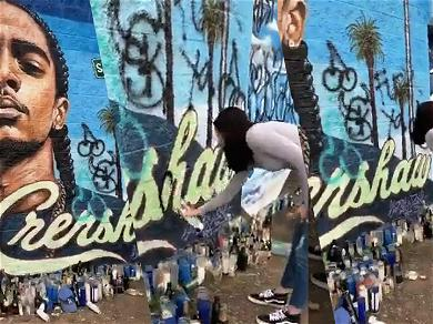 Police Give Woman Permission to Deface Nipsey Hussle Mural