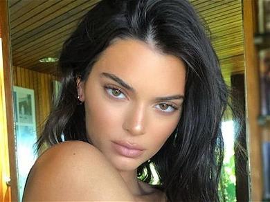 Kendall Jenner Flaunts Paint Job In Apple Green Yoga Undies