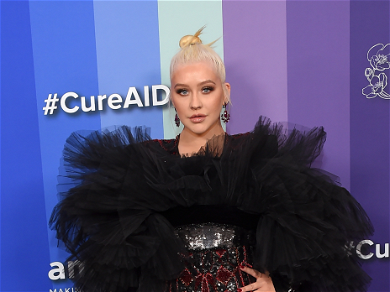 Christina Aguilera Nearly Spills Out Of Dress Ahead Of 39th Birthday