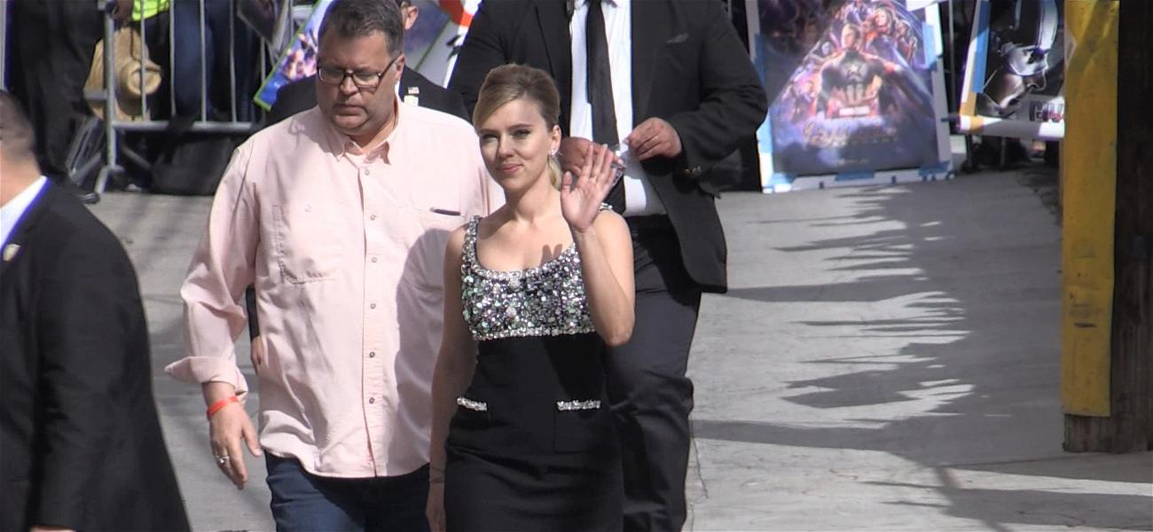 Scarlett Johansson Went to LAPD Over Rough Photogs After Jimmy Kimmel Appearance