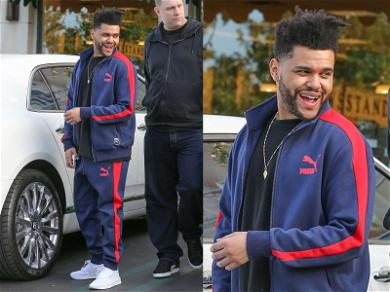 The Weeknd Flashes a Smile While Booking Out