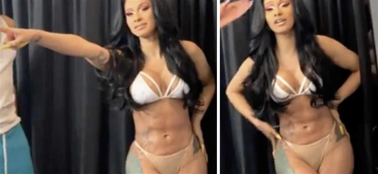 Cardi B Strips Down to Bra & Panties While Belting Out Gospel Version of 'Clout'
