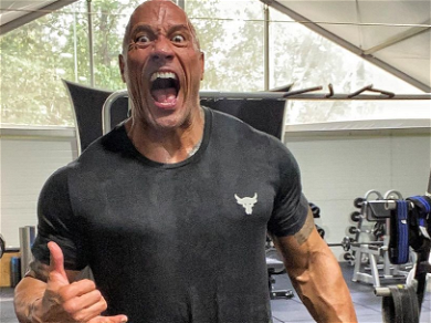 The Rock Reveals His College Football Card Is Worth $45,000 On Super Bowl Sunday!
