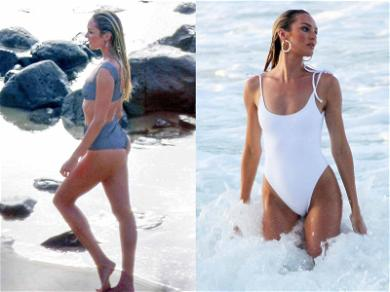Pregnant Candice Swanepoel Doubles Up On Sexy Swimsuits in Brazil