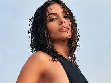 Olivia Culpo Works Out In Open Bathrobe
