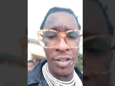 Young Thug Arrested for Felony Gun Possession in Los Angeles After His Birthday Party