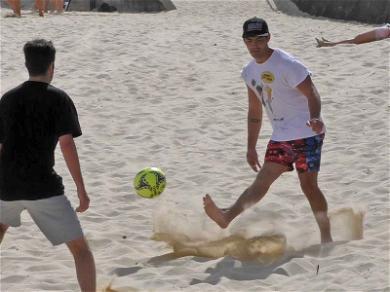 Joe Jonas Shows Off His Soccer Skills in Australia