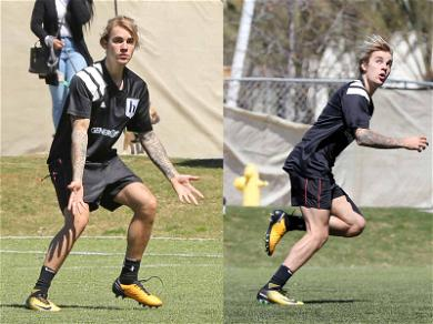 Justin Bieber Kicks His Way to Victory During Soccer League Match