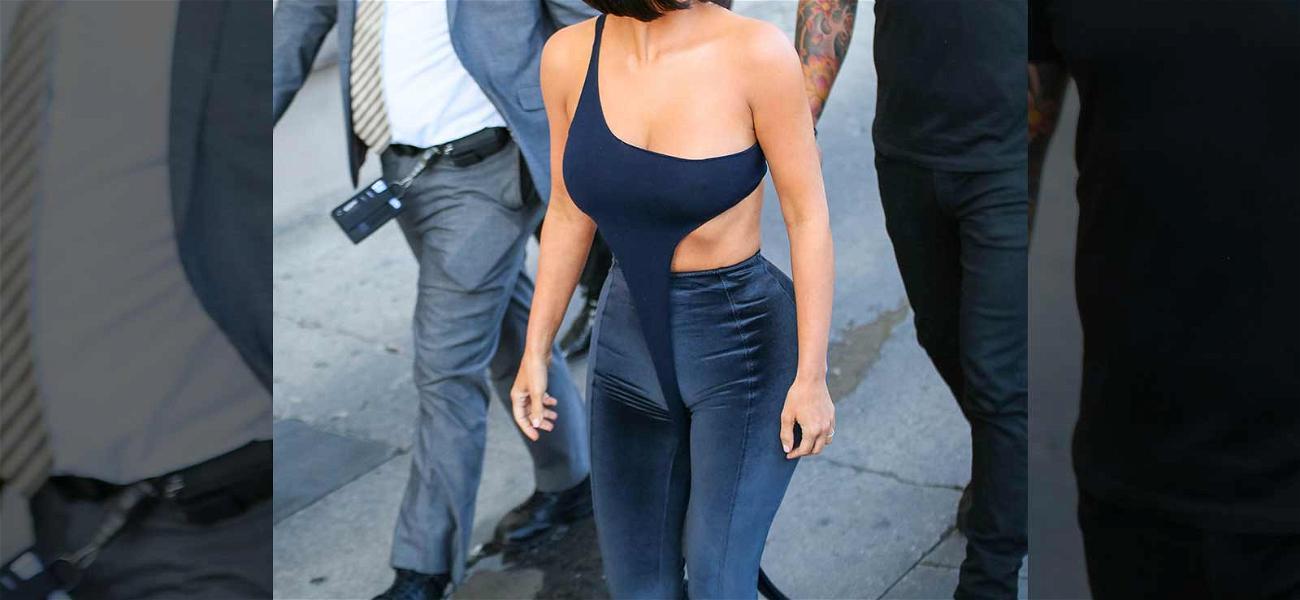 Kim Kardashian Talks Trump In Revealing Body-Hugging Outfit