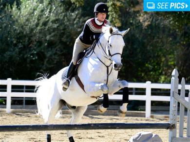 Selma Blair Mounts an Impressive Horse Jumping Session