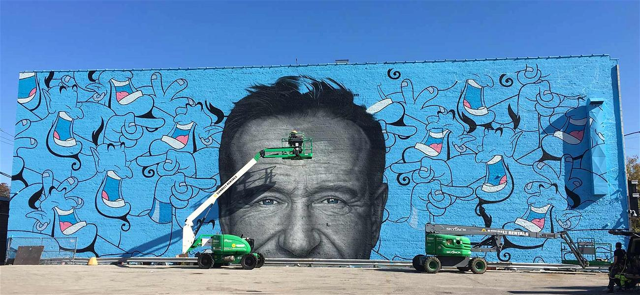 Amazing Robin Williams 'Genie' Mural Painted in Chicago to Promote Suicide Awareness