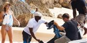Michael Jordan Gets Sneakers and Stogies Delivered in the Caribbean