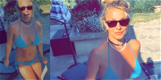 Britney Spears Welcomes The Weekend With A Poolside Bikini Dance