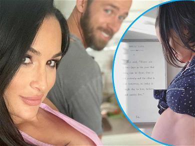 Nikki Bella Flaunts HUGE Baby Bump To Celebrate 37-Weeks… She's So Close!
