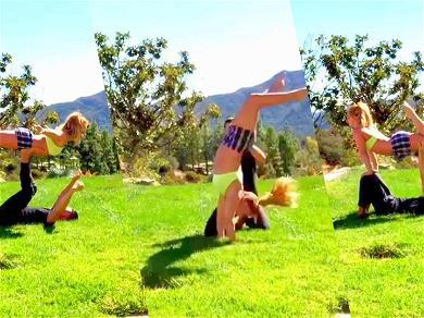 Britney Spears Back Handsprings Into Her Boyfriend's Heart After Year-Long Gymnastics Break