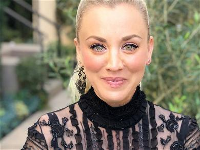 Kaley Cuoco Rolls Around In Cartoon Pajamas For Weekend Workout