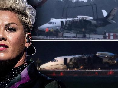 Private Jet Carrying Pink's Tour Manager & Crew Crashes & Bursts Into Flames After Her Show