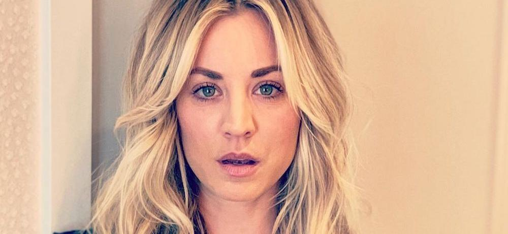 Kaley Cuoco Stuns For 4.51 A.M. Bathrobe Coffee With Bombshell Bedhair