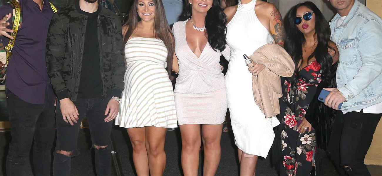 Angelina Joins 'Jersey Shore' Cast on Press Tour Ahead of 'Family Vacation' Season 2