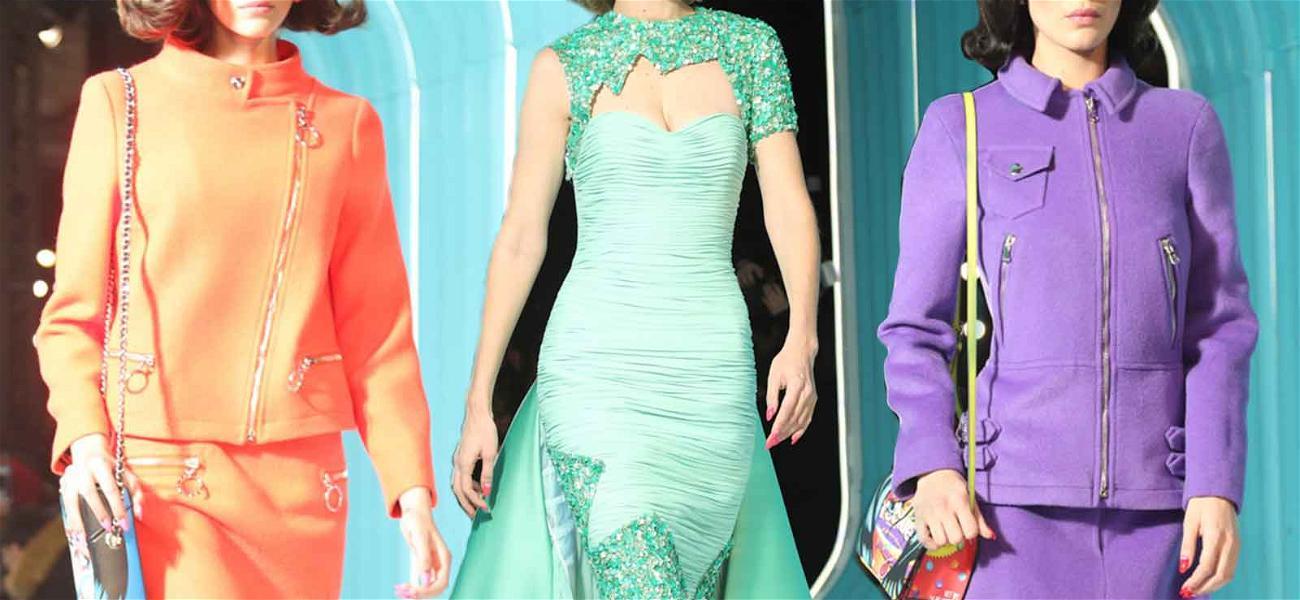 Kaia Gerber, Gigi and Bella Hadid Lead Catwalk in Retro Moschino Fashion Show