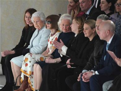 Queen Elizabeth Sits Front Row With the Queen of Fashion
