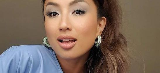 Jeannie Mai Exposes Her Melons In Open Bathrobe