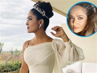Salma Hayek, 53, Calls Herself A 'Silver Fox' In Beautiful Selfie That Shows Off Her Grays