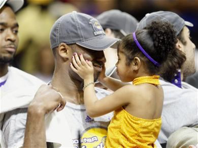 Kobe Bryant And Gianna Adorable Throwback Photo Shows Him Surprising Her On School Career Day