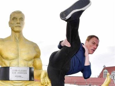 Jean-Claude Van Damme Glitters in Gold for Munich Premiere