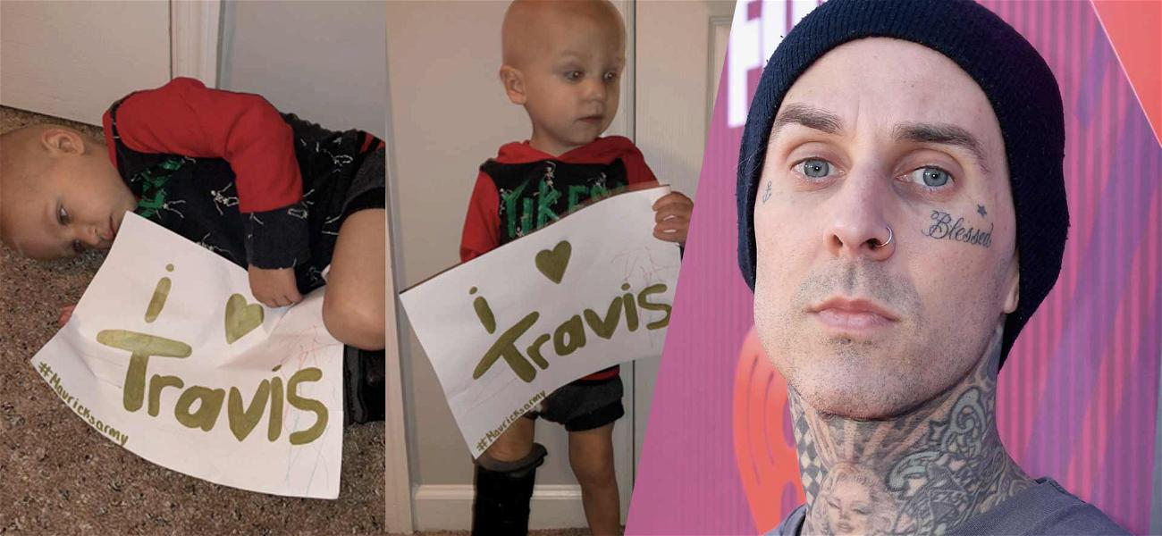 Travis Barker Sends Personal Message To 2-Year-Old Suffering From Cancer For the Third Time