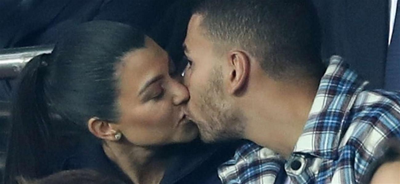 Kourtney Kardashian and Younes Bendjima Making Out at Soccer Match