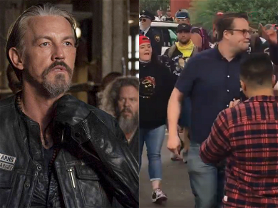 'Sons Of Anarchy' Star Tommy Flanagan Professes His Love For Anti-Proud Boys 'Hero'
