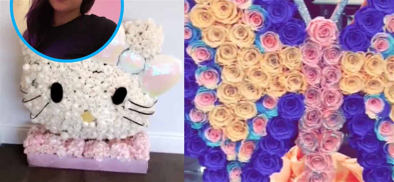 Kylie Jenner's Stormi Gets Royal Flower Treatment Like Cousin Chicago