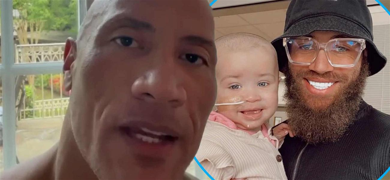 'The Rock' Sends Emotional Message To Ashley Cain Amid His Baby Girl's Cancer Battle