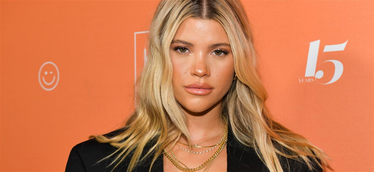 Sofia Richie Pumps Gas In High-Waisted Black Jeans & Gucci Belt, Amid Rumors She's Back With Scott Disick