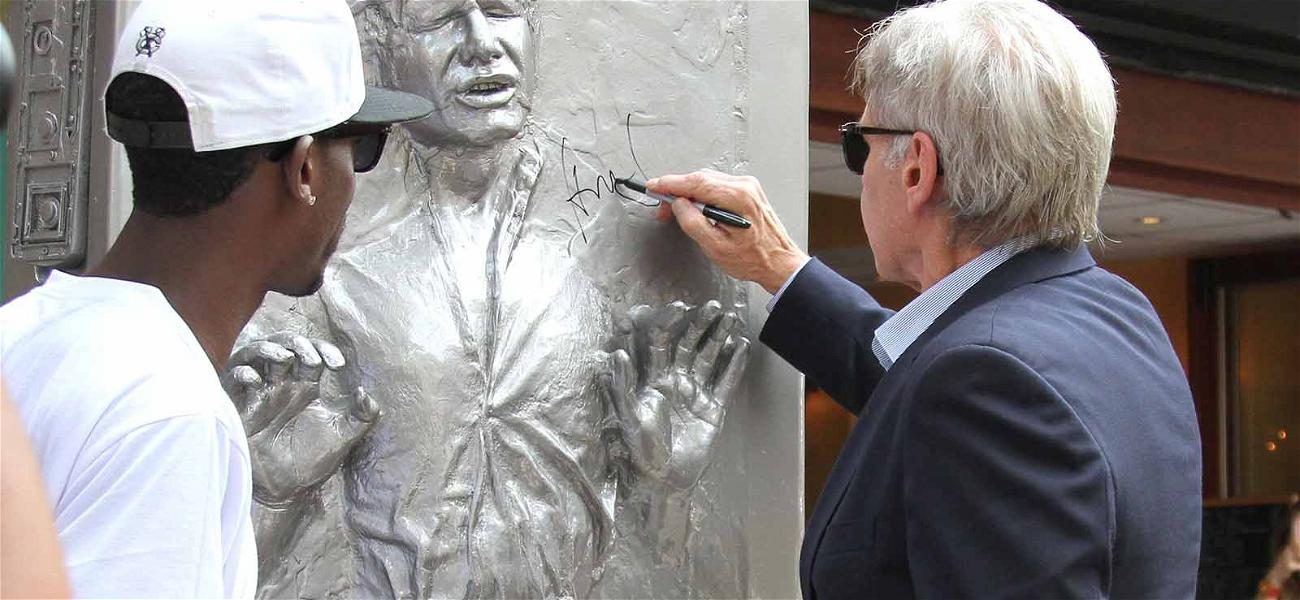 Harrison Ford Autographs Himself in Carbonite