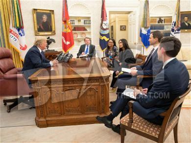 Kim Kardashian Leans In to Address Donald Trump During White House Meeting