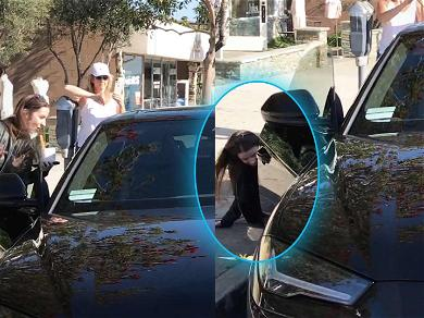 Justin Bieber's Mom Falls During Froyo Run with Hailey