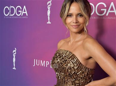 Halle Berry Rocking a White Bathing Suit Is the Best Thing You'll See All Day