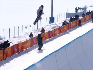 Shaun White Throws Down Amazing Halfpipe Run During Winter Olympics!