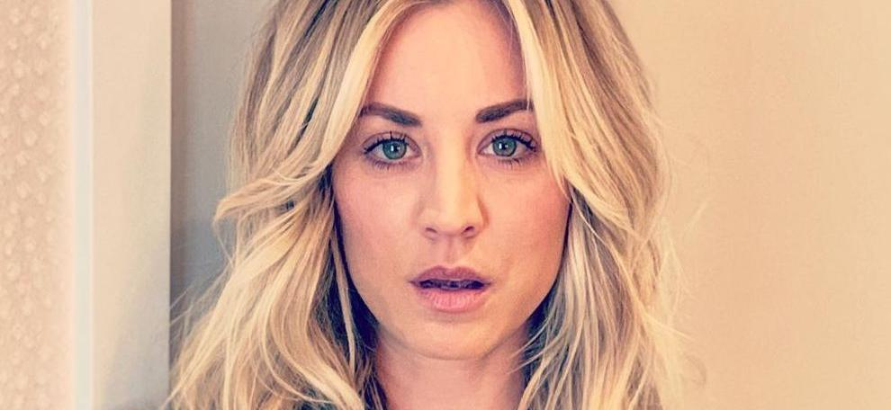 Kaley Cuoco Demands Crotch Attention Before Stripping To Skimpy Spandex