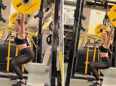 Kate Beckinsale Squats On The Pot During Crappy Workout
