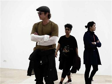 Brad Pitt Casually Checked Out an Art Exhibit in Venice and Nobody Noticed