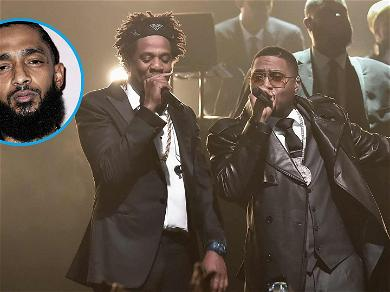 Jay-Z Pays Tribute to Nipsey Hussle, Brings Out Nas at Webster Hall