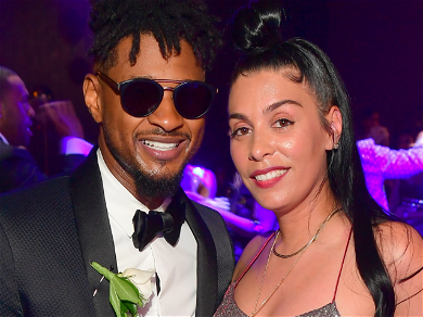 Singer Usher Spotted Getting Close To Record Exec Jenn At Diddy's 50th Birthday